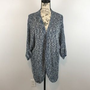 Canyon River Blues open front Blue Sweater